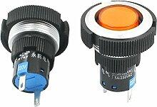 sourcingmap® 2Stk AC 220V Aluminum Ring Signal