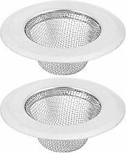 sourcingmap® 2Stk Küche Waschbecken Bad Abfluss Maschen Abfluss Sieb 7cm Durchm