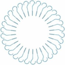 sourcingmap 30pcs Schraubenhaken Selbstschneidender Schlüssel Hut hängende Ringe Silber Ton