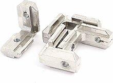Sourcingmap® 4Aluminium T Schlitz Profil 40Serie 90Grad Innen Eckverbinder Silber Ton