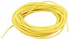 sourcingmap® 5M 28AWG Elektronisch Kupfer Schnur Flexibel Silikon Draht Kabel Gelb