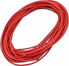 sourcingmap® 8 M, AWG 24, 3-KV-Elektrische Kupferkern Flexibel Silikon Kabel Rot für RC