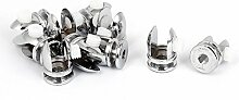 Sourcingmap® 8mm Glas-Regal Stellschrauben, Clip Unterstützung, Halterung, 10 Stück