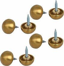sourcingmap® 8 Stk 20mm 304 Edelstahl Spiegel Schrauben Nägel Schraubverschluss Zierbeschläge