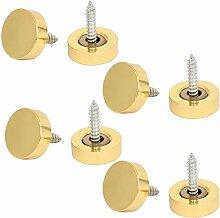 sourcingmap® 8 Stück Gold 18mm Dmr. Spiegel Schrauben Nägel Schraubverschluss Zierbeschläge
