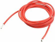 Sourcingmap a13073100ux04922m Meter 12# Kabel-Draht-Harz Silikon Kaliber rot zur Ausstattung Elektroheizung
