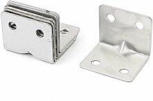 Sourcingmap a15102100ux018631x 31x 37mm Regal Unterstützung Corner Brace rechtwinklig Bracket–Silber Ton (6-teilig)