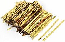 Sourcingmap a15102800ux013480mm Metall Halloween Candy Tasche Twist Tie Wrap String–Gold Ton (4000-piece)