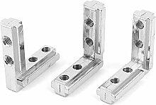Sourcingmap a15112300ux019844x 40mm Regal Unterstützung Corner Brace Gelenk Metall Winkelkonsole,–Silberfarben (3-teilig)
