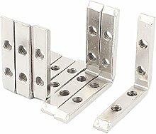 Sourcingmap a15112300ux021149,5x 49,5mm Regal Unterstützung Corner Brace Metall Winkelkonsole,–Silberfarben (6-teilig)