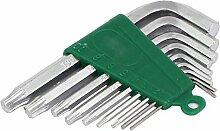 Sourcingmap a16041900ux05061,5–10mm 1Hex Breite L Shaped Doppel Ende Design Torx Schlüssel Schrauben-Schlüssel Set–Silber Ton