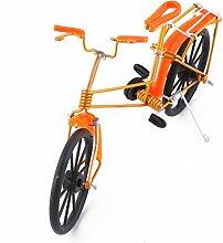 sourcingmap® Aluminium Legierung Vintage Stil Tisch Spielzeug Geschenk Fahrrad Modell Orange