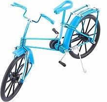 sourcingmap® Aluminium Legierung Vintage Tisch Dekor handgefertigt Spielzeug Fahrrad Modell