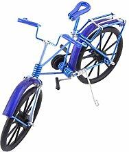sourcingmap® Aluminiumlegierung Vintage Schreibtisch Deko Spielzeug Fahrrad Modell Königsblau