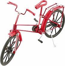 sourcingmap® Aluminiumlegierung Vintage Stil Tisch Deko handgemacht Fahrrad Modell ro