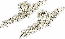 Sourcingmap® Antik Silber Rose Blume Pull Griff
