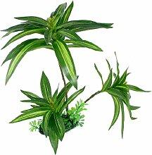 sourcingmap Aquarium Aquascape Künstliches Blatt Wasser Gras Plastik Pflanze Dekoration Grün 30cm