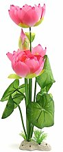 sourcingmap® Aquarium Dekor Blume Pflanze Wasserlandschaft Dekor Ornament hellrosa