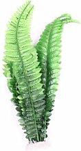 sourcingmap® Aquarium Grün Künstliche Gras Kunststoff Pflanze Dekoration 40cm Höhe