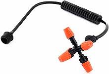 sourcingmap® Bewässerung Einstellbare Spritzdüse Sprinkler Düsenrohr 1/2BSP Montage Dmr Se