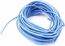 sourcingmap® Blau 5M 22AWG elektrisches Kupferkern flexibles Silikon Draht Kabel für RC