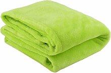 sourcingmap® Büro Sofa Couch Flanell rechteckige Design warm Decke Bettdecke grün gelb