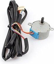 sourcingmap® DC 12V 100Hz 1/42,5 RPM 4 Phase Luft Klimaanlage Synchrone Motor mit Kabel