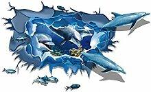 Sourcingmap Dolphin Muster Fenster Wohnzimmer Kunst Aufkleber Wandtattoo blau