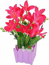 sourcingmap® Fabric Artificial Flower Handcraft Tabletop Wedding Party Garden Decorative