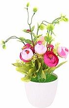 sourcingmap® Familie Büro Innenraum DIY Handwerk Desktop Schrank Dekoration künstliche Blumen