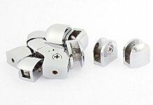 sourcingmap® Halbkreis Form 8mm Dicke Glas Regal Halterung Unterstützung Clip Klammer 12stk