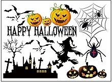 Sourcingmap Halloween Kürbis Hexe Mond Fledermaus Muster Wandtattoo Aufkleber Home Decor
