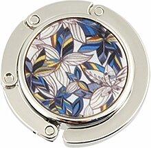 """sourcingmap® Handtaschenhalter, zum Aufhängen am Tisch, zusammenklappbar, aus Metall, mit Blumenmuster """"""""Lilien"""