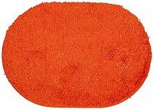 sourcingmap Haus Plüsch Oval Anti Rutsch Tür Boden Matte Teppich Fußmatte Orange 65cm x 45cm