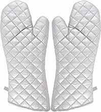 sourcingmap Haushalt Bäckerei Hitzebeständigkeit Mikrowelle Backofen Handschuhe Silber Ton Paar