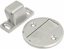 sourcingmap® Haushalt Bodentürstopper Türstopper magnetisch, Silberfarbene Metallelemente