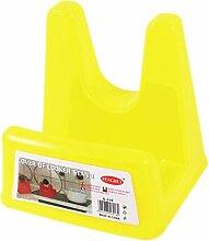 sourcingmap® Haushalt Gelb Kunststoff-Regal für Küche-Ablage für Pfannen-Deckel