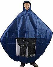 sourcingmap® Hellblau Wasserdicht Kapuze Regenmantel Poncho Abdeckung Schutz für Motorrad