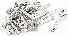 Sourcingmap® Knock Down Möbel Cam Lock Dübel montieren 11Sets