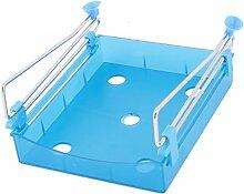 sourcingmap Kühlschrank Raum Platz sparen Obst Organizer Lagerung Rack Regale Blau