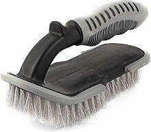 Sourcingmap Kunststoff Rutschfest Auto Teppich Stuhl reinigen Bürste, schwarz/grau