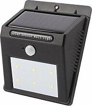 sourcingmap® LED Solarwand Licht PIR CDS Motion Sensor Lampe 6 LEDs wasserdichte Garten