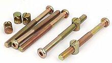 sourcingmap® M8x90mm Innensechskant Schlüssel Möbel Bolzen mit Mutter M8x15mm Nieten 5 Se
