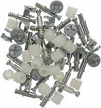 Sourcingmap Möbel Anschluss Dübel Radmutter Cam Armatur 13mmX10mm Dia 20Sets