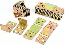 sourcingmap® Möbel Verbinden Holz Bett Schiene Platte Halterung Klammer Unterstützung 10Sätze