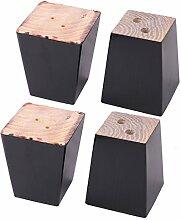 sourcingmap Möbelfüße aus Holz, für Sofas etc,