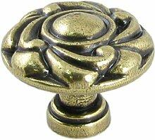 sourcingmap® Möbelgriff, rund, mit Prägung, Bronzefarben