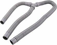 sourcingmap PVC-Y Form Abfluss Schlauch Unterlegscheiben Rohr Anschluss Grau 3.94Ft Länge