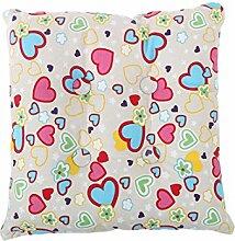 sourcingmap® Quadrat Stuhl Kissen Sitz Patio Garten Essen mit Krawatte (Herz mit Knopf)