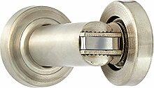 sourcingmap® Silberfarbenes Metall 50 mm Tür Türstopper Riegel OD Magnethalter